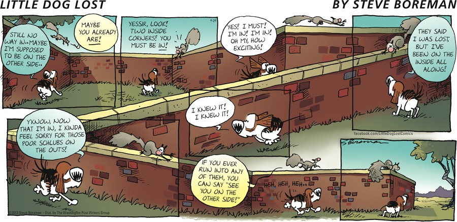 Little Dog Lost Comic Strip for September 29, 2013