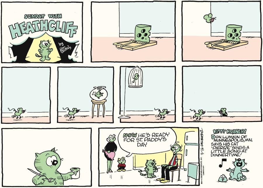 Heathcliff for Mar 16, 2014 Comic Strip
