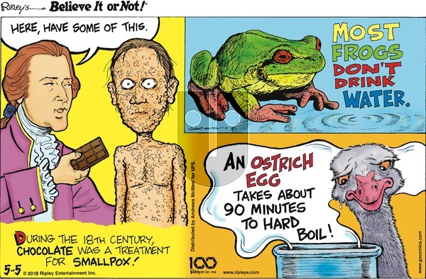 Ripley's Believe It or Not on Sunday May 5, 2019 Comic Strip