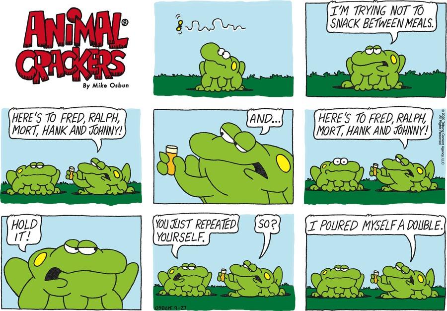 Animal Crackers Comic Strip for September 27, 2020