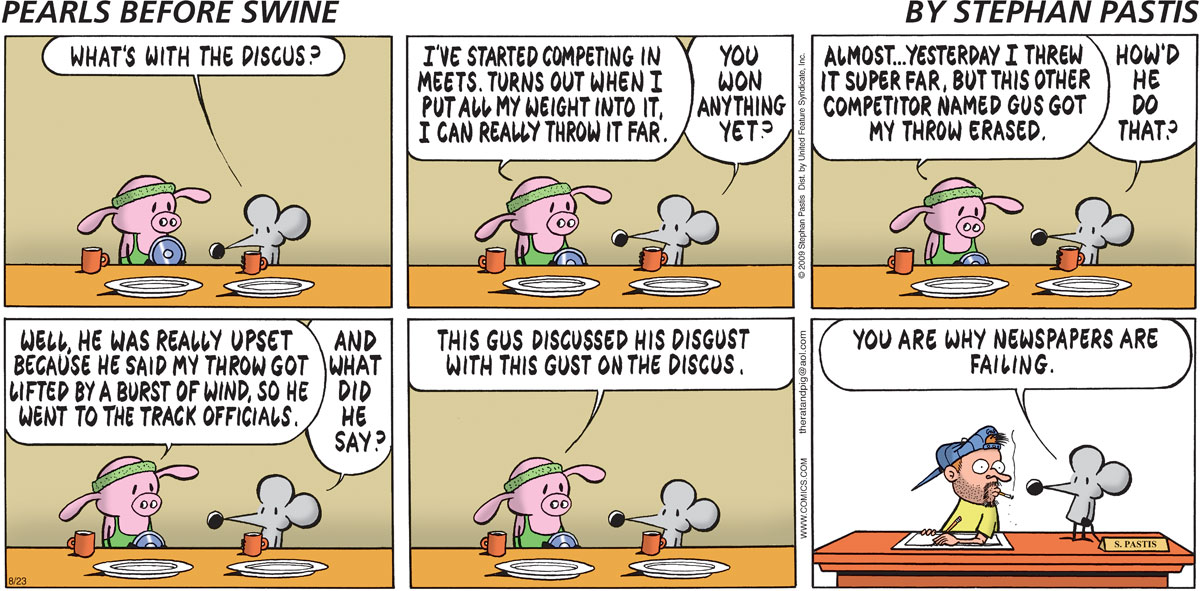 Pearls Before Swine Comic Strip for August 23, 2009