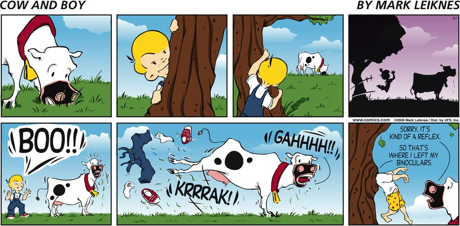 Cow and Boy Classics Comic Strip for October 01, 2006