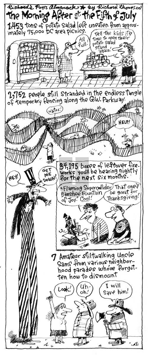 Richard's Poor Almanac on Sunday July 5, 2015 Comic Strip