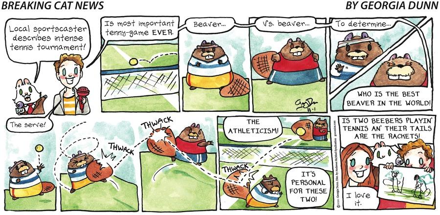 Breaking Cat News Comic Strip for November 01, 2020