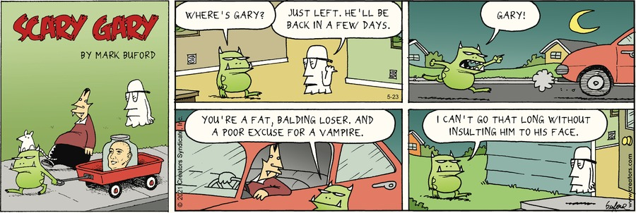 Scary Gary Comic Strip for May 23, 2021