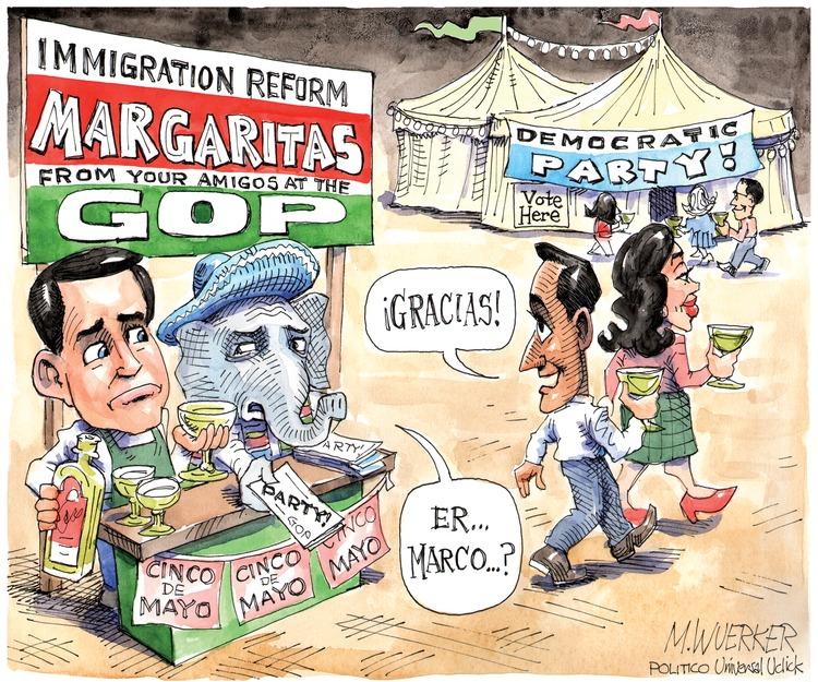 Man: Gracias! Republicans: Er... Marco?