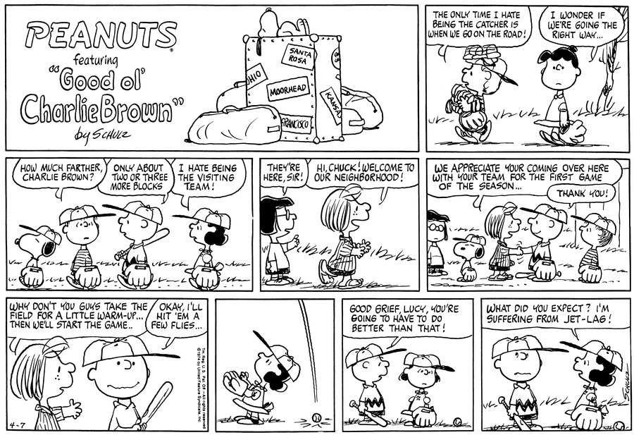 Peanuts Comic Strip for April 07, 1974