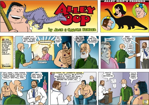 Alley Oop on Sunday December 16, 2018 Comic Strip