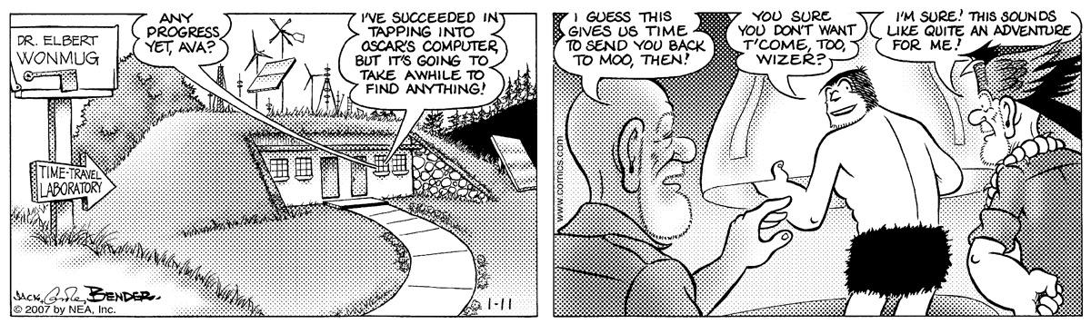 Alley Oop for Jan 11, 2007 Comic Strip