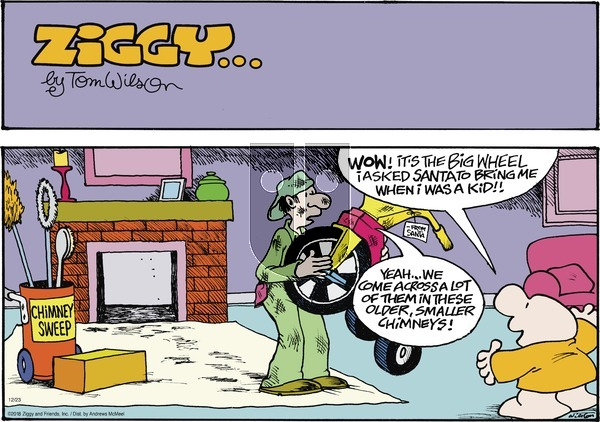 Ziggy on Sunday December 23, 2018 Comic Strip