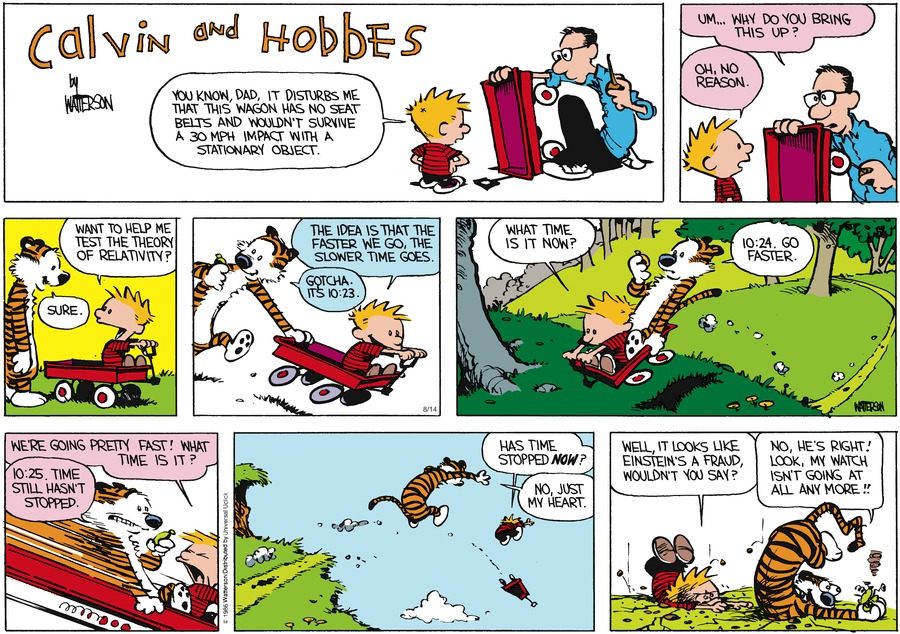 Calvin and Hobbes Comic Strip for August 14, 2016