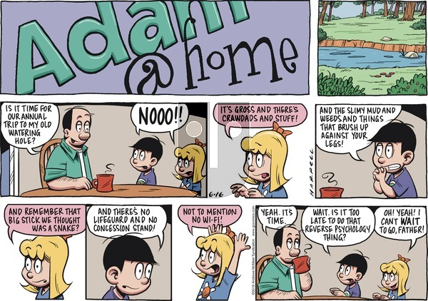 Adam@Home on Sunday June 16, 2019 Comic Strip