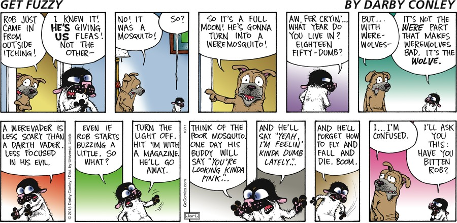 Get Fuzzy Comic Strip for October 11, 2015