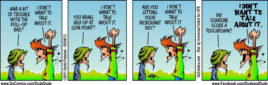 Dude and Dude for May 6, 2013 Comic Strip