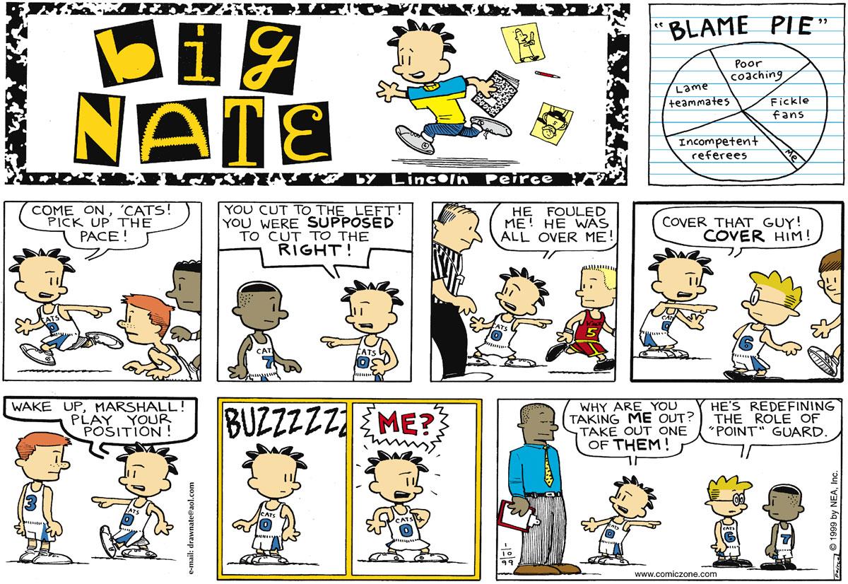 Big Nate for Jan 10, 1999 Comic Strip