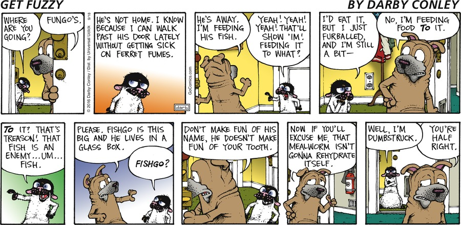 Get Fuzzy for Sep 18, 2016 Comic Strip