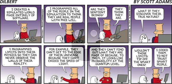 Dilbert on Sunday March 3, 2019 Comic Strip