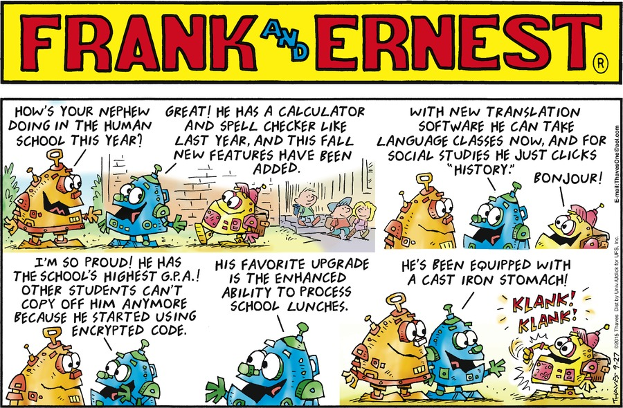 Frank and Ernest Comic Strip for September 27, 2015
