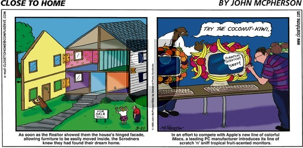 Close to Home on Sunday March 21, 1999 Comic Strip
