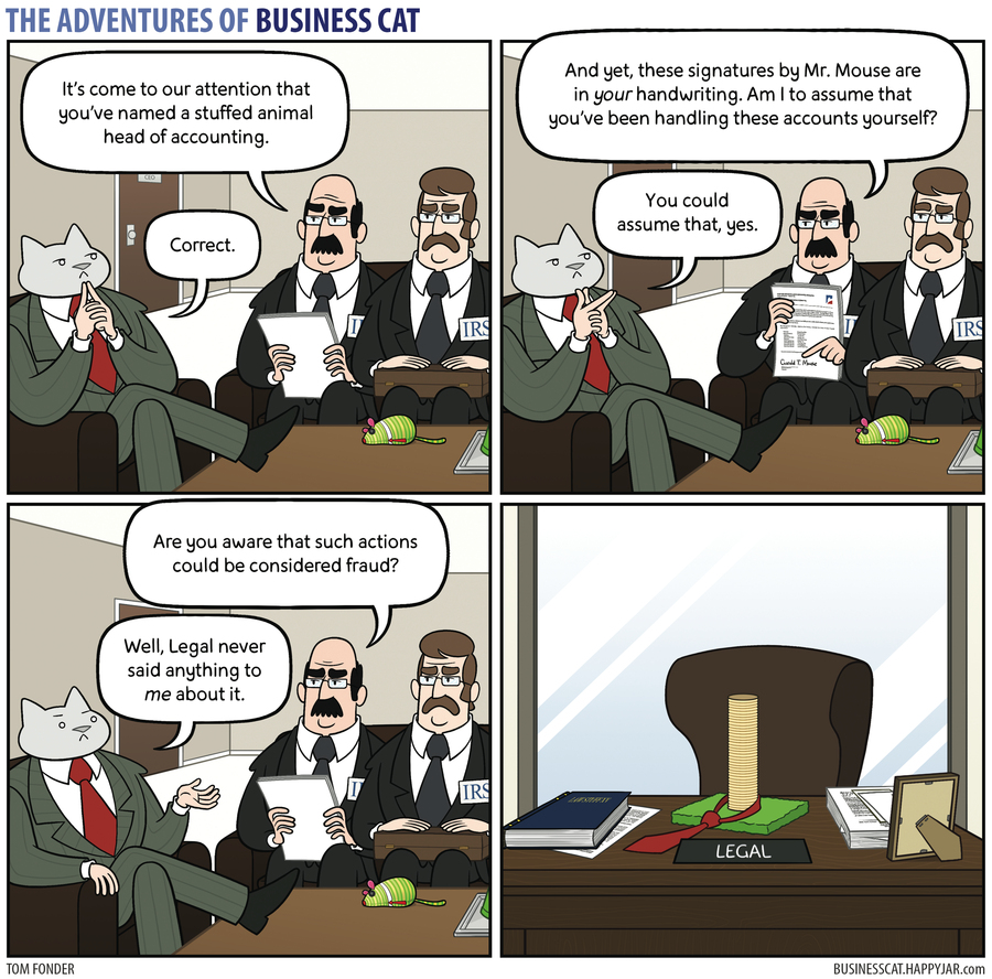 The Adventures of Business Cat Comic Strip for September 18, 2017