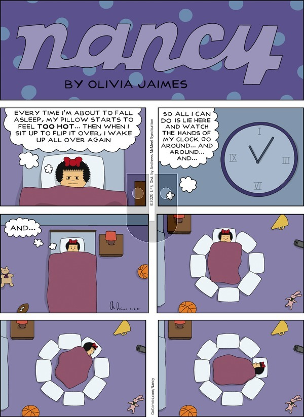 Nancy - Sunday February 16, 2020 Comic Strip