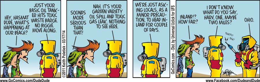 Dude and Dude for Mar 17, 2014 Comic Strip