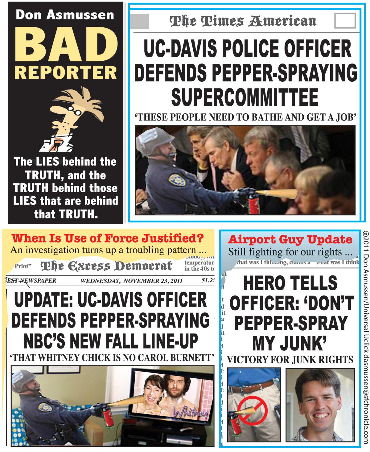Bad Reporter for Nov 23, 2011 Comic Strip