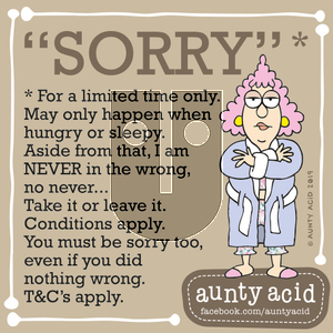 Aunty Acid on Sunday September 22, 2019 Comic Strip