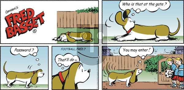 Fred Basset on Sunday August 9, 2020 Comic Strip
