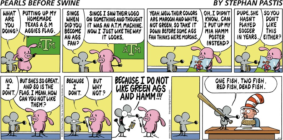 Pearls Before Swine Comic Strip for April 11, 2010