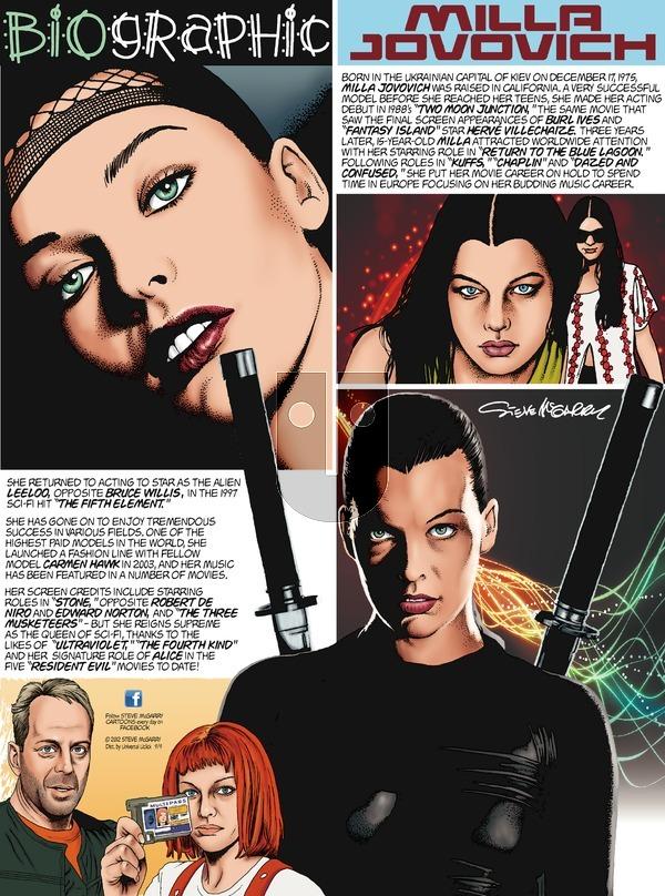 Biographic on Sunday September 9, 2012 Comic Strip