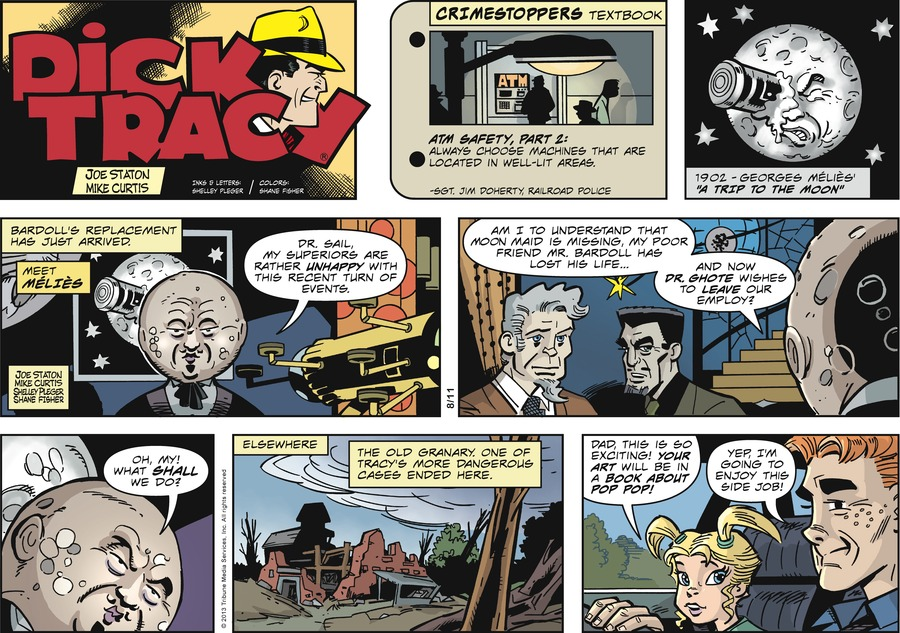 Dick Tracy Comic Strip for August 11, 2013