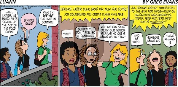 Luann on Sunday September 15, 2013 Comic Strip
