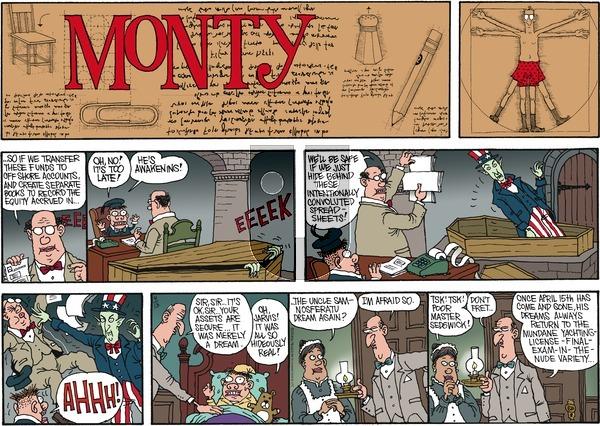Monty on Sunday April 13, 2014 Comic Strip