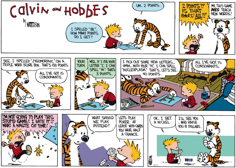 Calvin and Hobbes Comic Strip for December 11, 2016