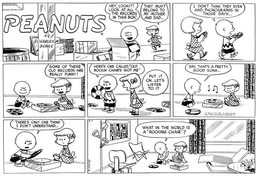 Peanuts Comic Strip for March 01, 1953