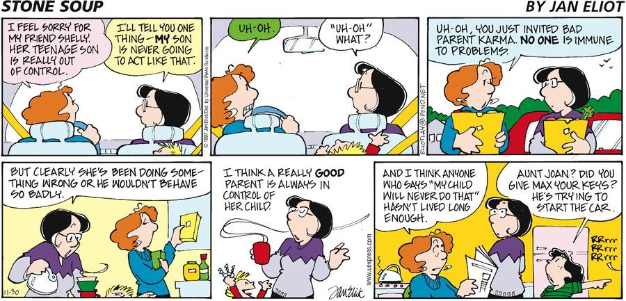 Stone Soup for Nov 30, 1997 Comic Strip
