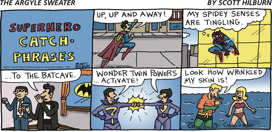 The Argyle Sweater Comic Strip for May 25, 2014