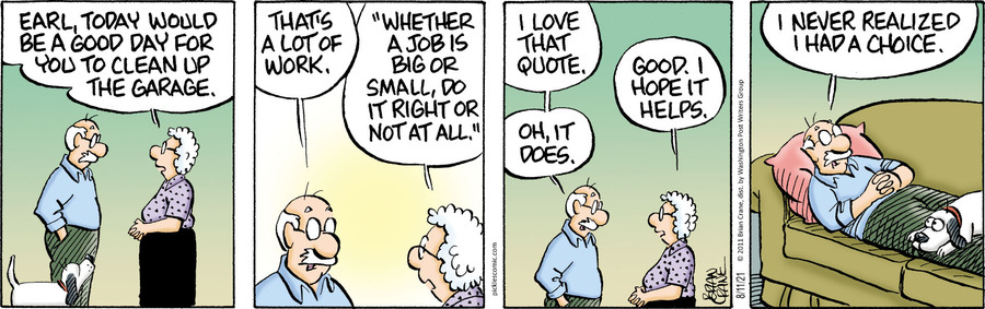 Pickles Comic Strip for August 11, 2021