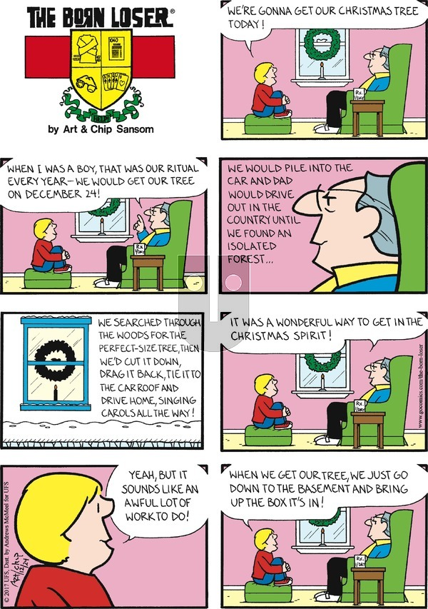 The Born Loser on Sunday December 24, 2017 Comic Strip