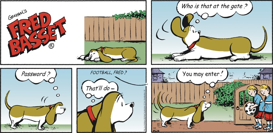 Fred Basset Comic Strip for August 09, 2020