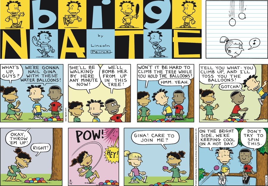 Big Nate Comic Strip for August 16, 2020
