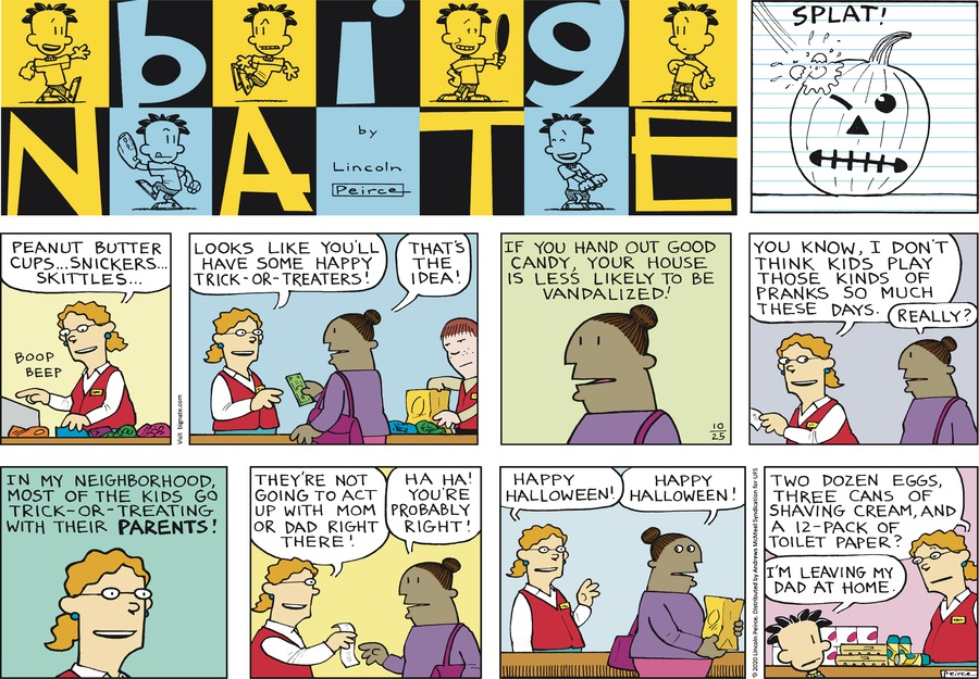 Big Nate Comic Strip for October 25, 2020