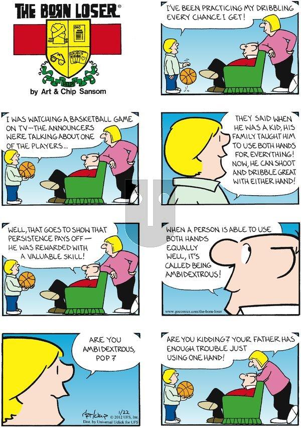 The Born Loser on Sunday January 22, 2012 Comic Strip