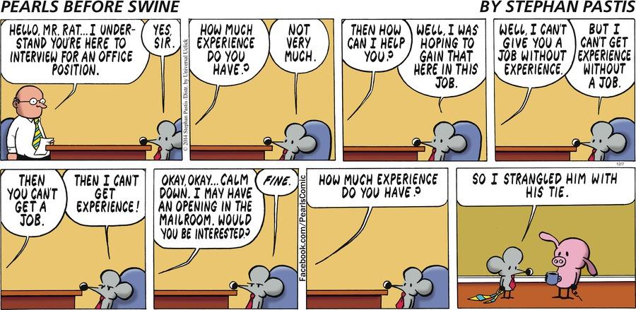 Pearls Before Swine for Dec 7, 2014 Comic Strip