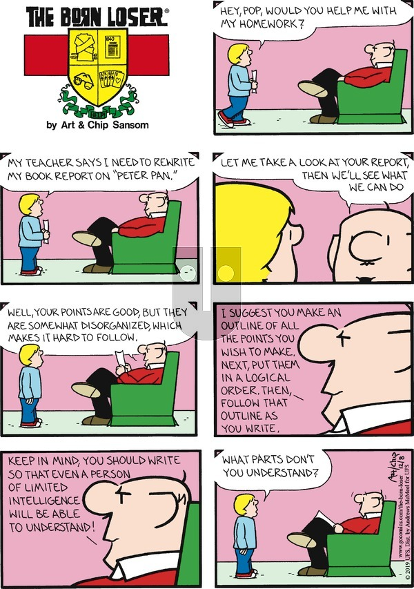 The Born Loser on Sunday December 8, 2019 Comic Strip