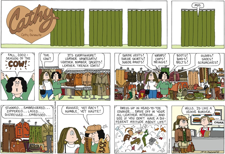 Cathy for Oct 20, 2013 Comic Strip