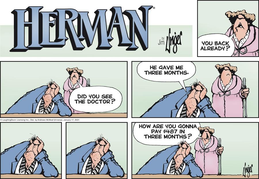 Herman Comic Strip for January 17, 2021