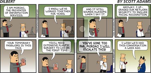 Dilbert on Sunday July 1, 2012 Comic Strip