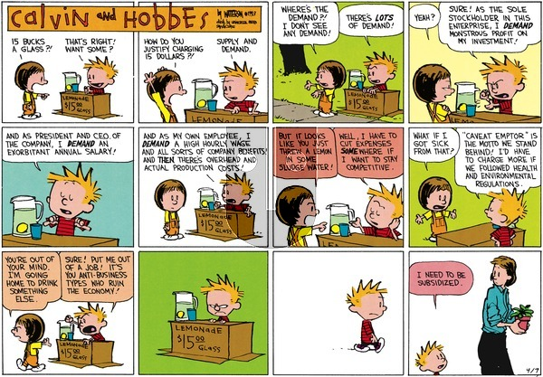 Calvin and Hobbes - Sunday April 7, 2013 Comic Strip